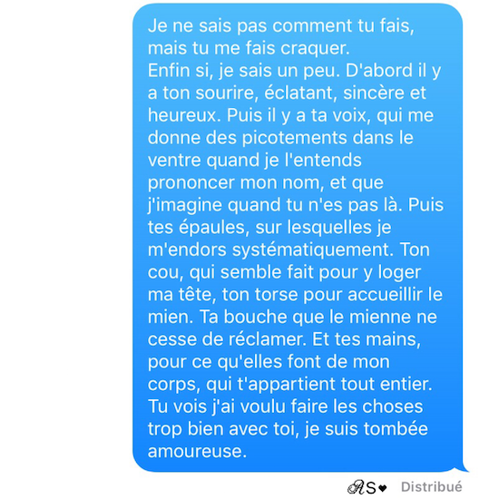 Amours solitaires 2e message