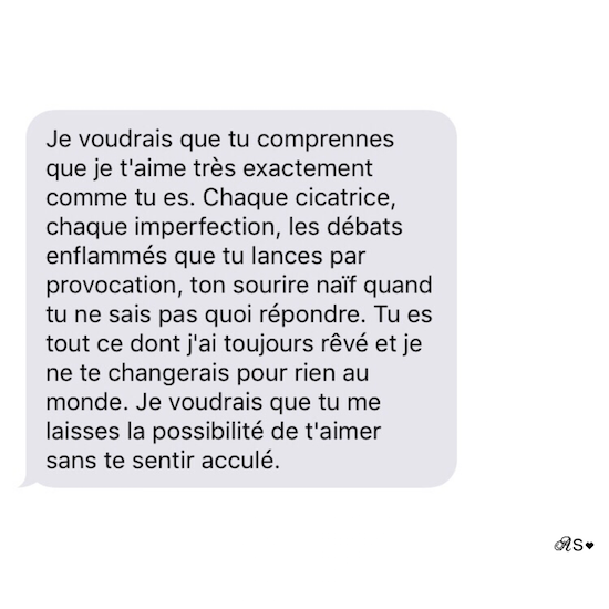 Amours solitaires 4e message